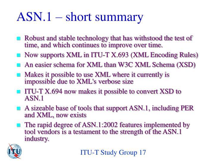 ASN.1 – short summary