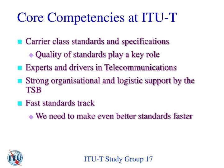 Core Competencies at ITU-T