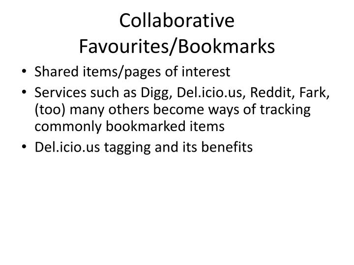 Collaborative Favourites/Bookmarks