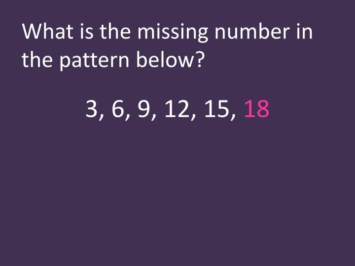 What is the missing number in the pattern below?