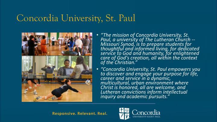 Concordia university st paul