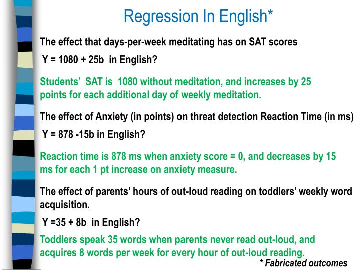 Regression In English*