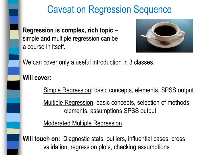 Caveat on Regression Sequence