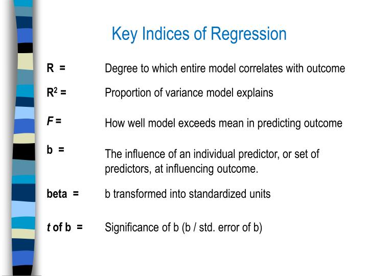 Key Indices of Regression