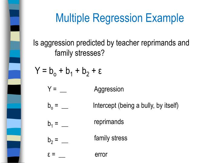Multiple Regression Example