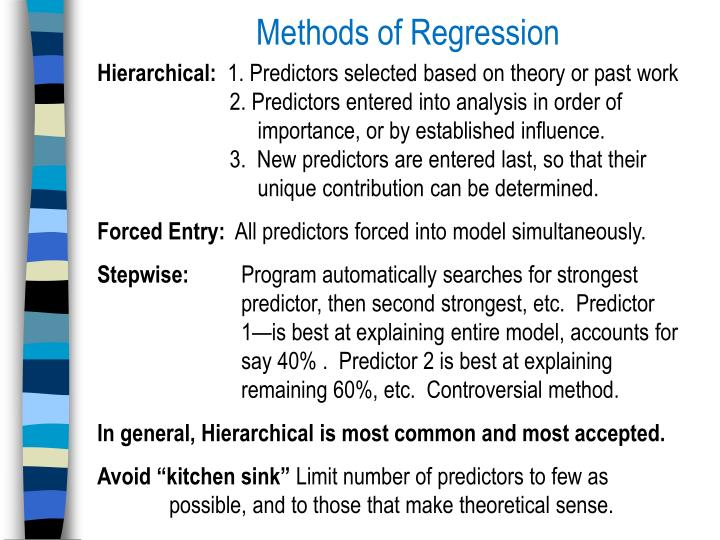 Methods of Regression