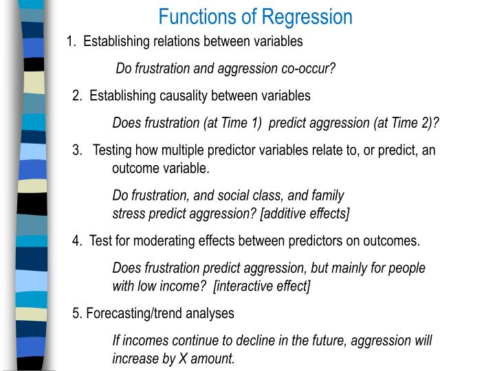 Functions of Regression