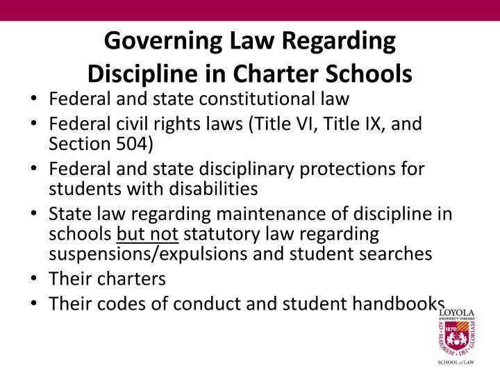 Governing Law Regarding
