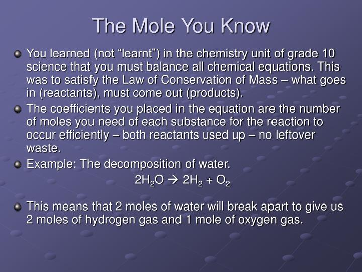 The Mole You Know