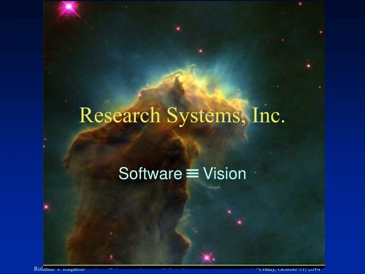 research systems inc n.