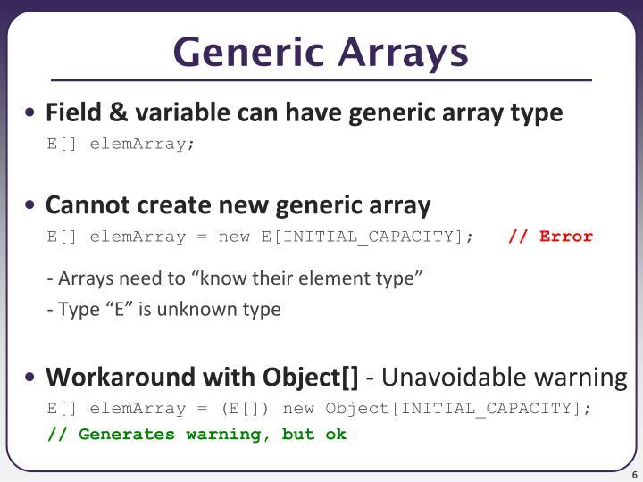 Generic Arrays