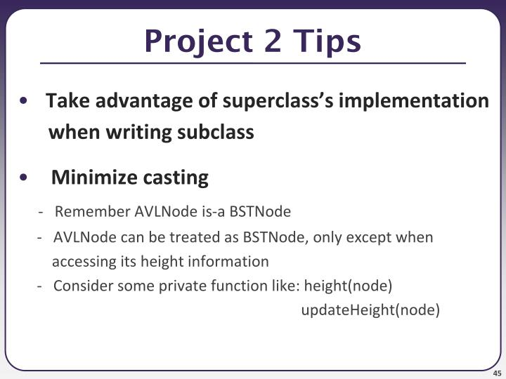 Project 2 Tips