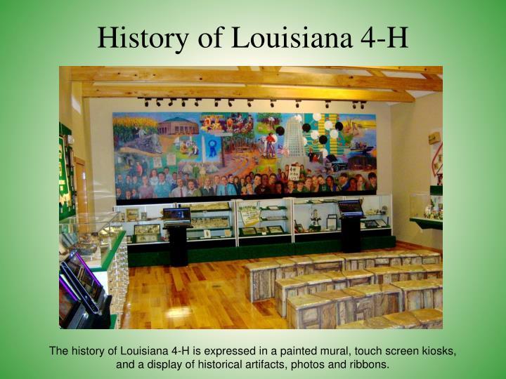 History of Louisiana 4-H
