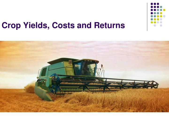 Crop Yields, Costs and Returns