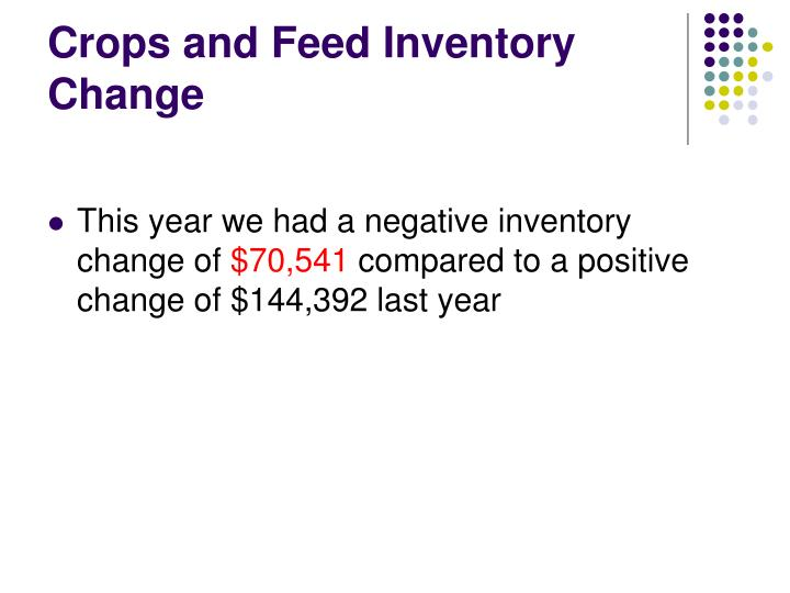 Crops and Feed Inventory Change
