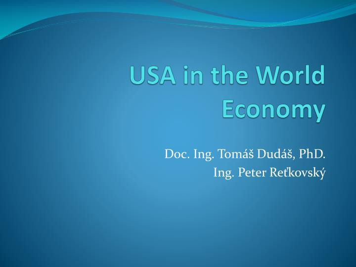 Usa in the world economy