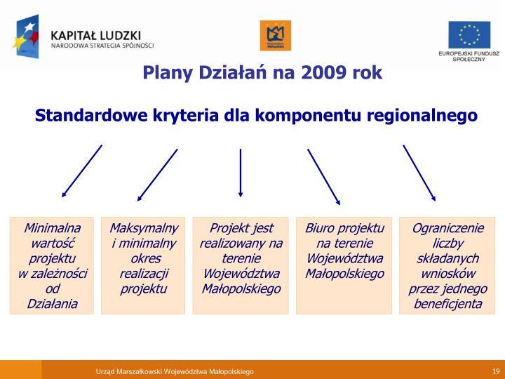 Plany Działań na 2009 rok