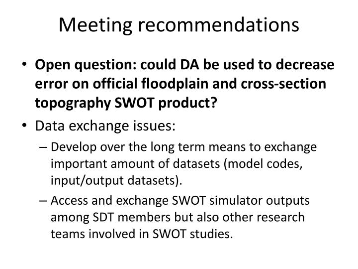 Meeting recommendations1