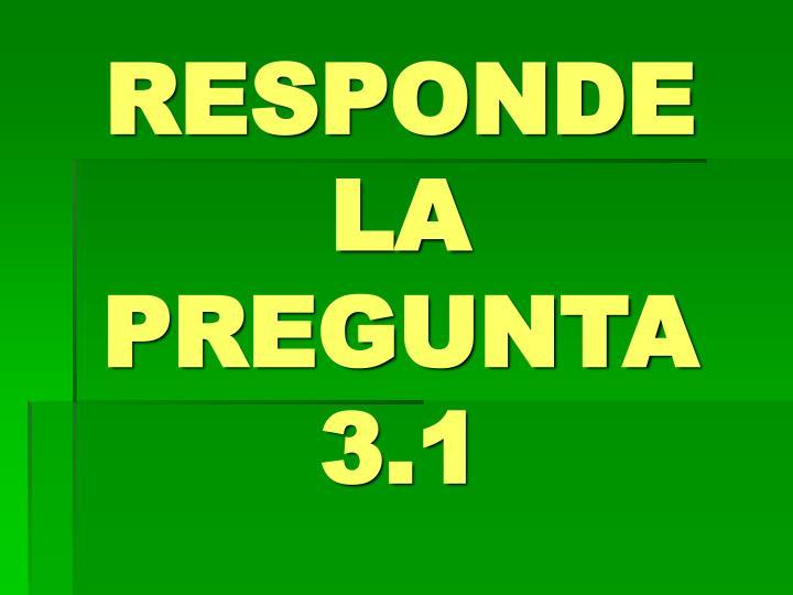 RESPONDE LA PREGUNTA 3.1