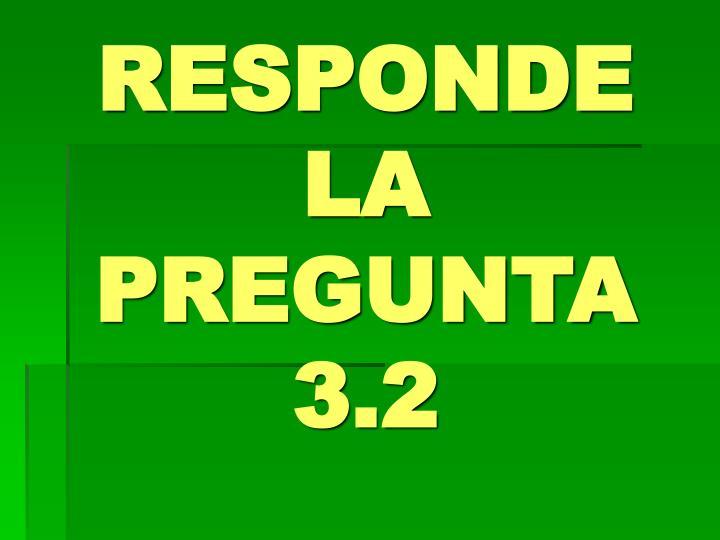 RESPONDE LA PREGUNTA 3.2