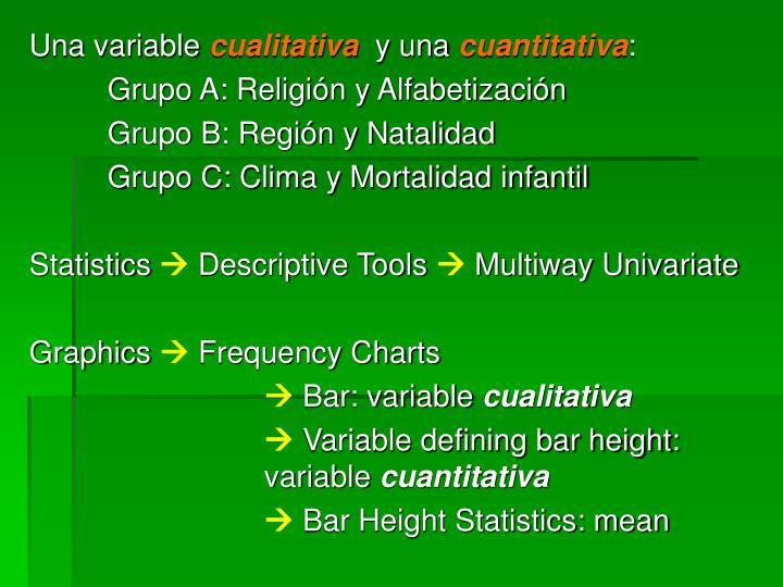 Una variable