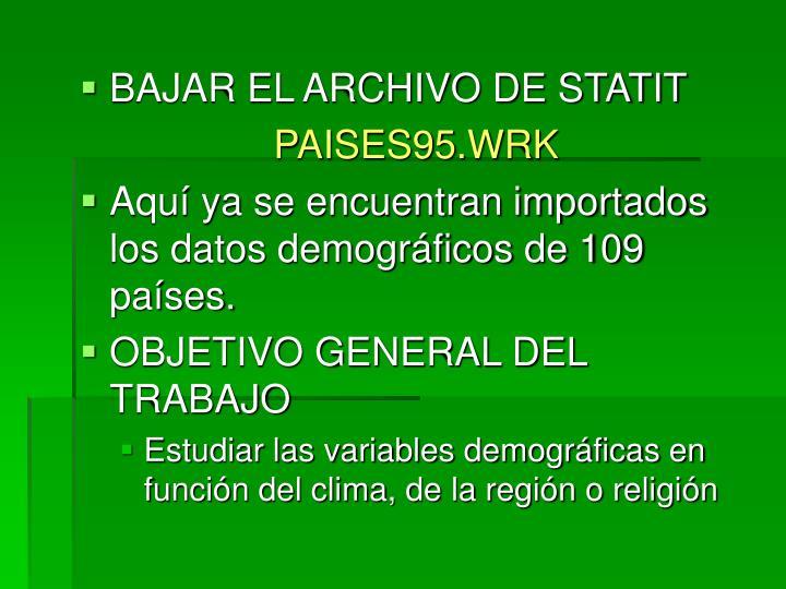BAJAR EL ARCHIVO DE STATIT