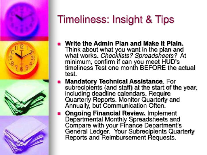 Timeliness: Insight & Tips