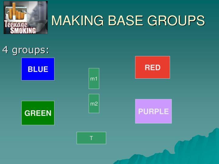 MAKING BASE GROUPS