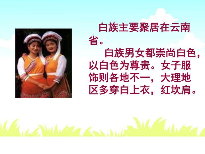 白族主要聚居在云南省。