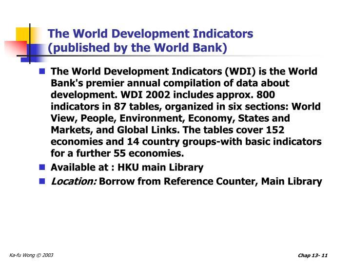 The World Development Indicators