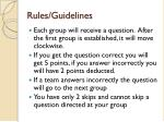 rules guidelines