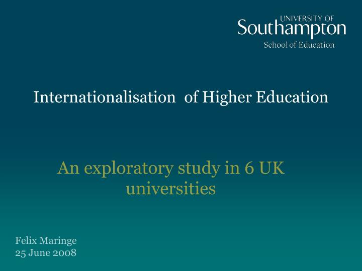 the internationalization of higher education education essay Internationalization of higher education: towards its comprehensive conceptualization in ukraine globalization and internationalization are significantly affecting higher education in ukraine as everywhere in the world the bologna process, implemented in ukraine since 2006/2007 academic.