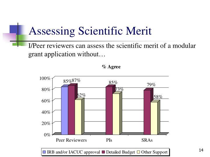 Assessing Scientific Merit