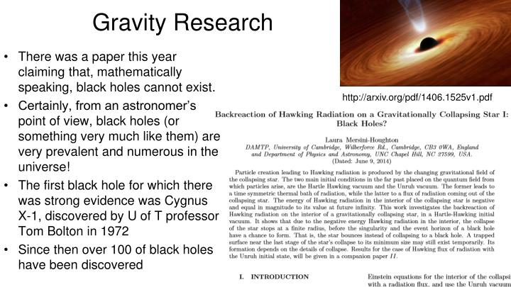 Gravity Research