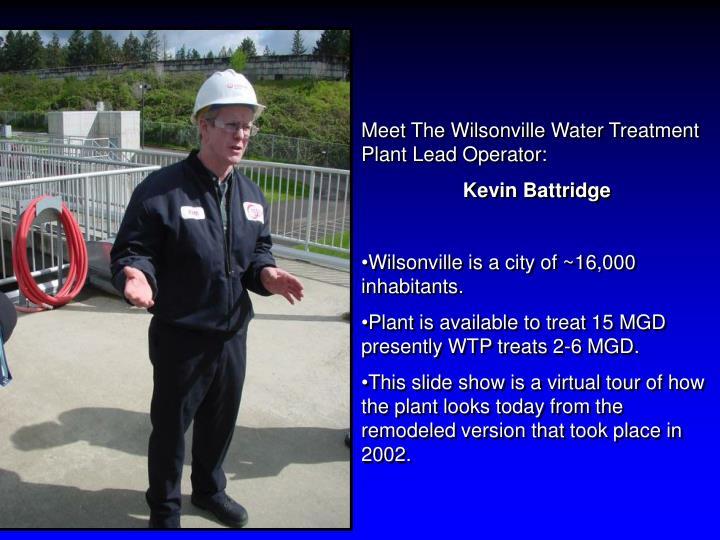 Meet The Wilsonville Water Treatment Plant Lead Operator: