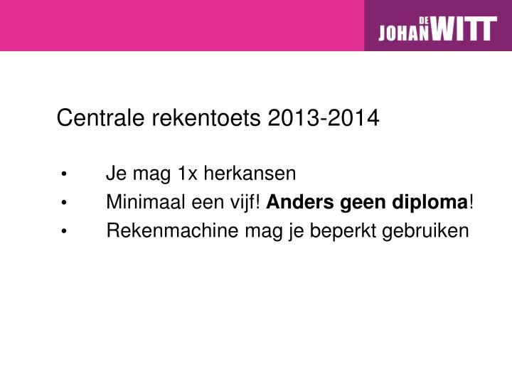 Centrale rekentoets 2013-2014
