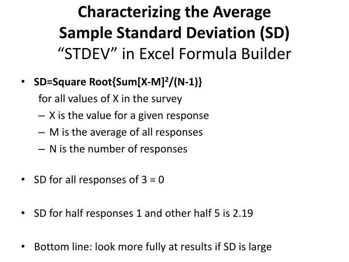Characterizing the Average