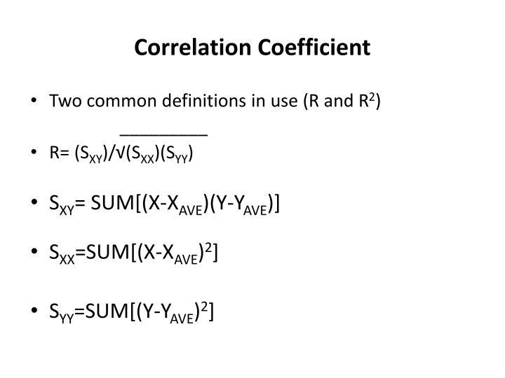 Correlation Coefficient
