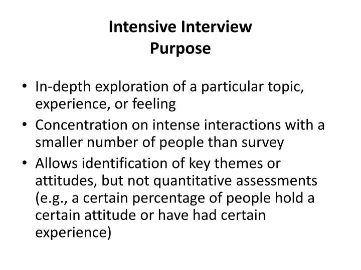 Intensive Interview