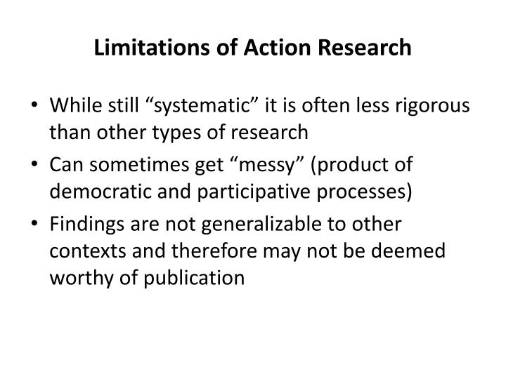 Limitations of Action Research