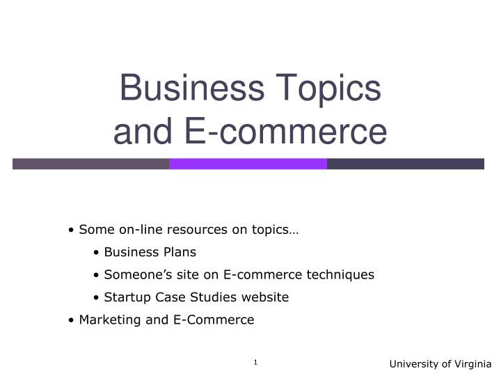 business topics and e commerce n.