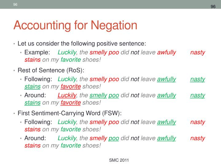 Accounting for Negation