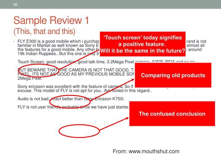 Sample Review 1