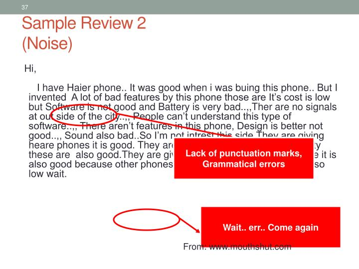 Sample Review 2