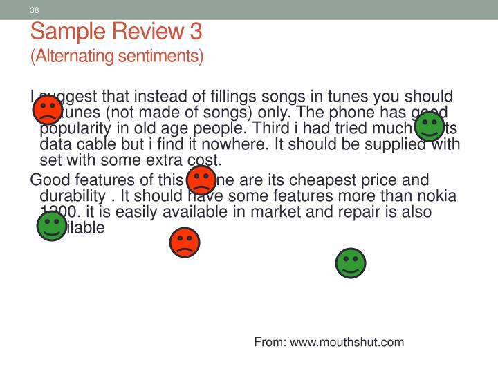 Sample Review 3