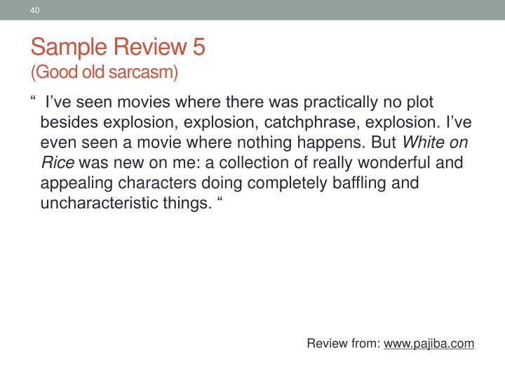 Sample Review 5