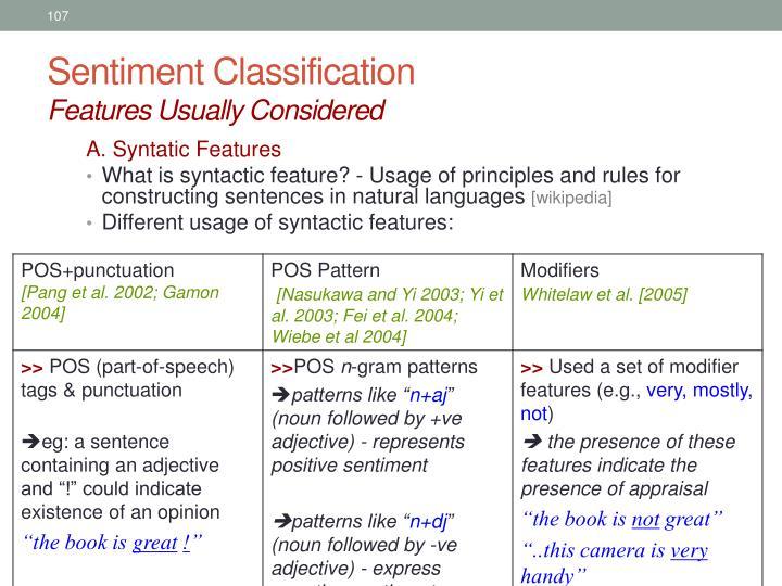 Sentiment Classification