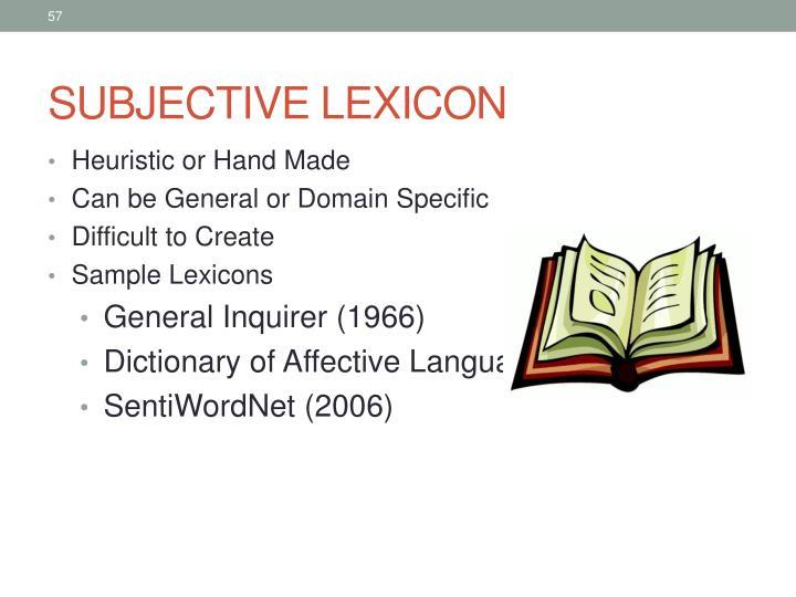 SUBJECTIVE LEXICON