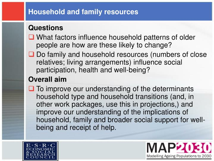 Household and family resources