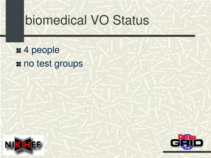 biomedical VO Status